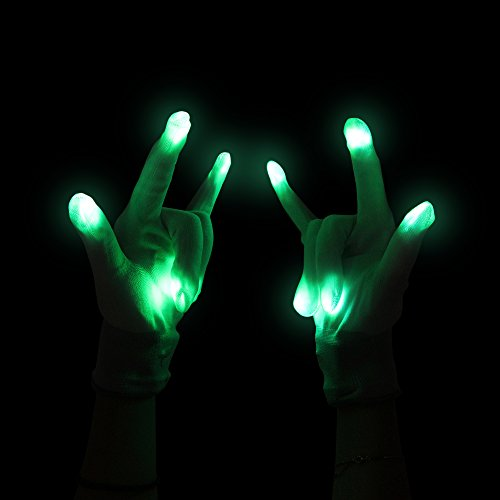 Fun Central G219 LED Light Up Gloves- White 2 Pieces