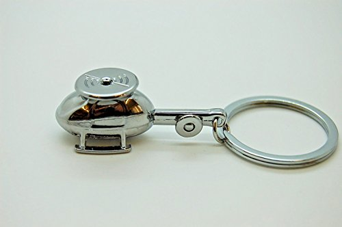 Various Device, Material, Vehicle, Tool Shaped Keychain, Keyring, Zinc Alloy (Helicopter) ()