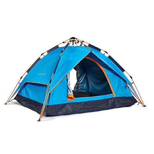 Tent Zip (Instant Dome Tent by ECOdept - Pitch Fast with 'Pop Up' Design - Dual Layer Waterproof Fabric to Stay Dry - Best for 2/3 Person Camping 91