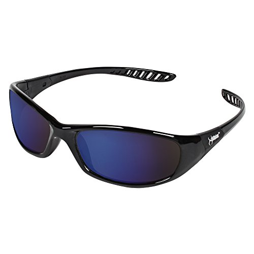 Jackson Safety 20543 V40 Hellraiser Safety Glasses, Blue Mirror Lenses with Black Frame (Pack of - Cause Vision Loss Can Sunglasses