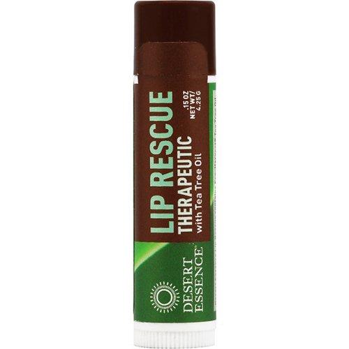 Desert Essence Lip Rescue Therapeutic with Tea Tree Oil, ...