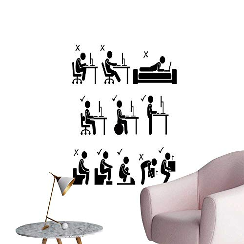 SeptSonne Vinyl Wall Stickers goo ba hu Body Posture for sale  Delivered anywhere in Canada