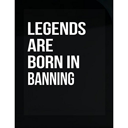 Inked Creatively Legends are Born in Banning City. Funny Gift - Sticker -