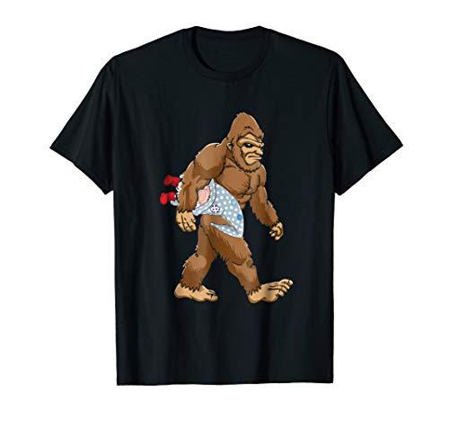 Funny Christmas Bigfoot Gnome T shirt Gnomes Gifts Kids 2 ()