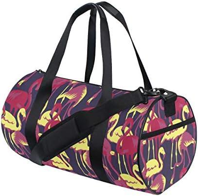 ボストンバッグ 熱帯のフラミンゴ ジムバッグ ガーメントバッグ メンズ 大容量 防水 バッグ ビジネス コンパクト スーツバッグ ダッフルバッグ 出張 旅行 キャリーオンバッグ 2WAY 男女兼用