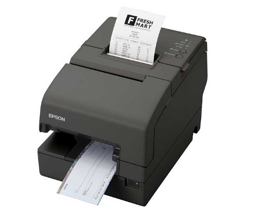 Epson TM-H6000IV Multistation Printer – 94 lps Mono Direct Thermal – USB, Serial – Drop-in Validation – C31CB25A8771
