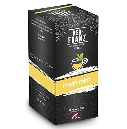 Der-Franz - Te de menta Fresh Mint en bolsitas piramidales, 30 x 2,5 g