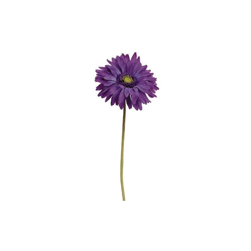 "silk flower arrangements 29"" gerbera daisy spray purple (pack of 12)"