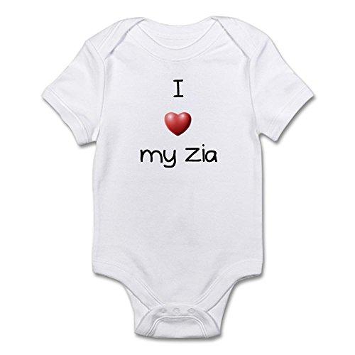 CafePress - I Love My Zia - Cute Infant Bodysuit Baby - Zia Love I