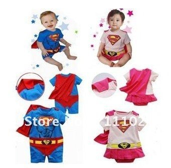 Baby Boys Girls Outfit Superman Super Girl Costumes 6 24 Months