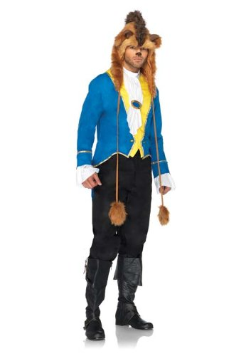 Disney Character Costumes For Couples (Leg Avenue Disney 3Pc.Beast Jacket Neck Scarf and Furry Character Hood, Blue, Medium/Large)