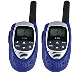 Zomei 22 Channel Walkie Talkies UHF462-467MHz, Long distance walkie talkies up to 3km,can be used for Parent-child interactive entertainment. walkie talkies for kids£¨two packs-blue)