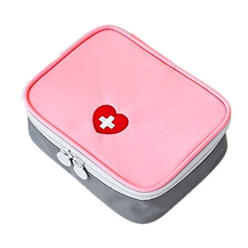 Multifunctional Tragbare Traveling Waterproof Nylon Family Medical Care First Aid Kit Bags Nurse Physician Care Hand Tote Bags (pink)