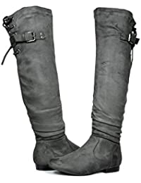 Women's Fashion Casual Over The Knee Pull On Slouchy Boots