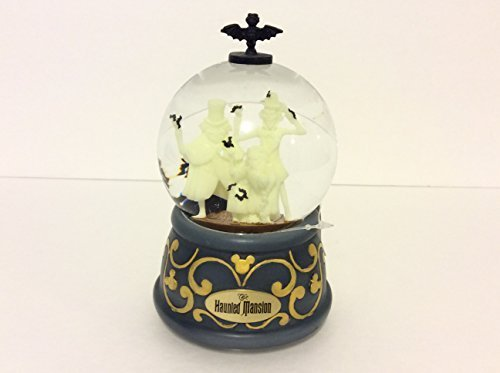 Disney Parks The Haunted Mansion Glow in the Dark Musical Snow Globe