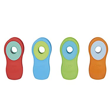 OXO Good Grips Magnetic All Purpose Clips, Brights, 4-Pack