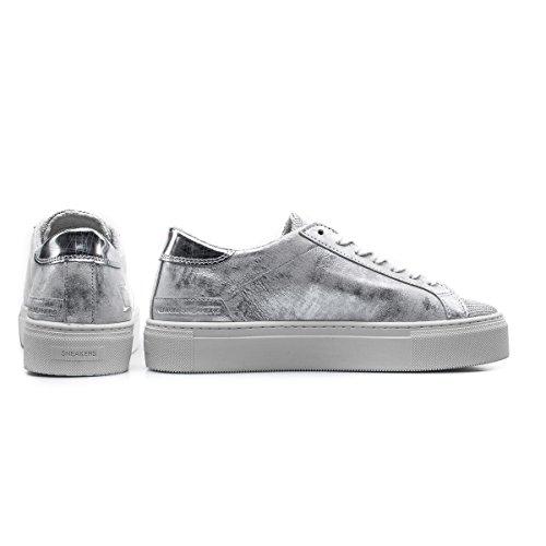 Women's Vertigini Data D'argento Polvere Sneaker Stardust Di Delle Laminated Sneaker Vertigo Donne Date Laminata Leather Silver Grey Stelle Pelle Grigio wz5FqBxd
