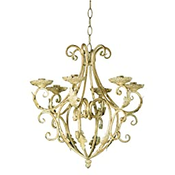 Gifts & Decor Wrought Iron Royalty\'s Candleholder Chandelier