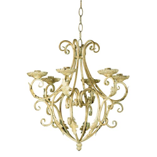 Gifts & Decor Wrought Iron Royalty's Candleholder Chandelier - Wrought Iron Faux Candle