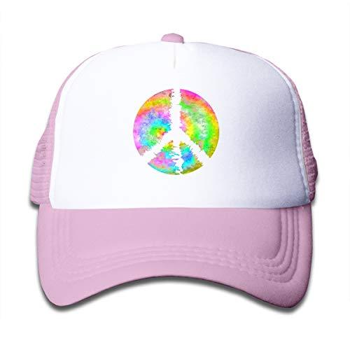 Tie Dye Peace Sign On Boys Girls Trucker Hat, Youth Toddler Mesh Hats Baseball Cap ()