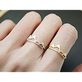 Cute Mountain Ring, Snow Mountain Ring in 3 colors