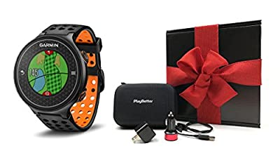 Garmin Approach S6 GIFT BOX | Includes Golf GPS Watch, Case, Wall & Car Charge Adapters (Orange)