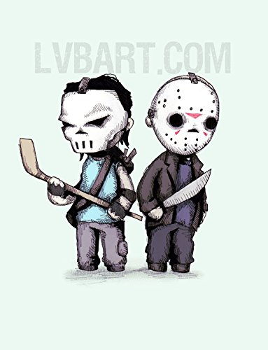[Hockey Mask Buddies Fine Art Print] (Jason Vorhees Masks)
