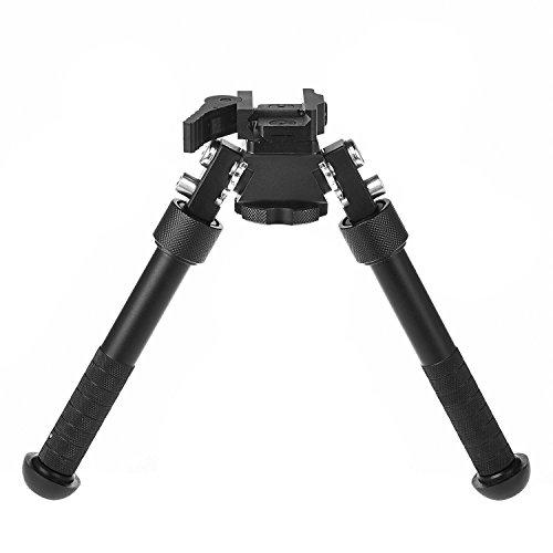 Qd Bipod Height Adjustable Rifle Bipod 7-10 Inches Flat Ultralight Tactical Handle Bipod Fits 22mm Rail