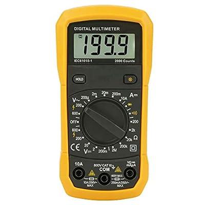 Akozon Digital Multimeter PM8233B 2000 Counts AC/DC Voltage Current Tester Auto Ranging Handheld Digital Multimeter