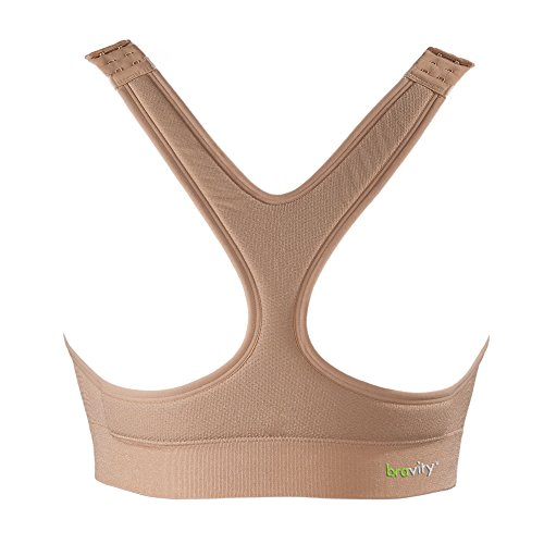 Bravity Women Anti-Wrinkle Cleavage Sleep Bra/Seamless & Adjustable Beige