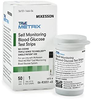 McKesson 06-R3051-45 True Metrix Self Monitoring Blood Glucose Test Strip