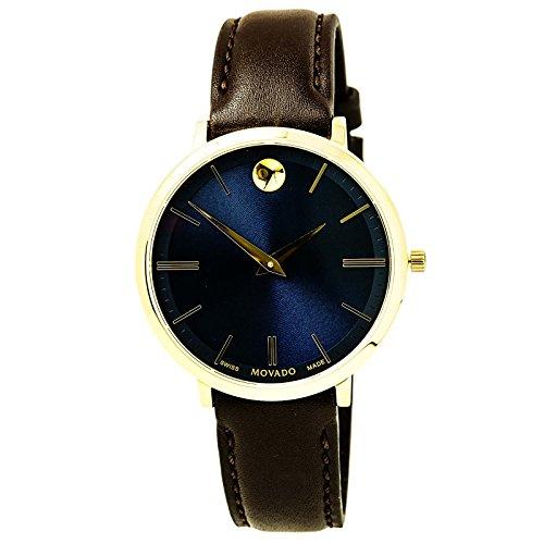 Ultra Slim Blue Sunray Dial Ladies Watch - Movado 0607092