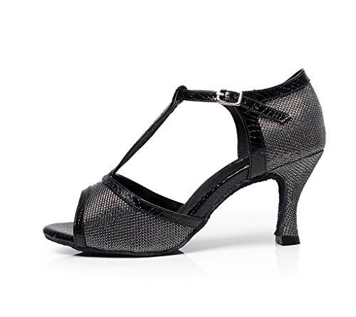Minitoo - Zapatos de tacón mujer, Negro - negro, 41