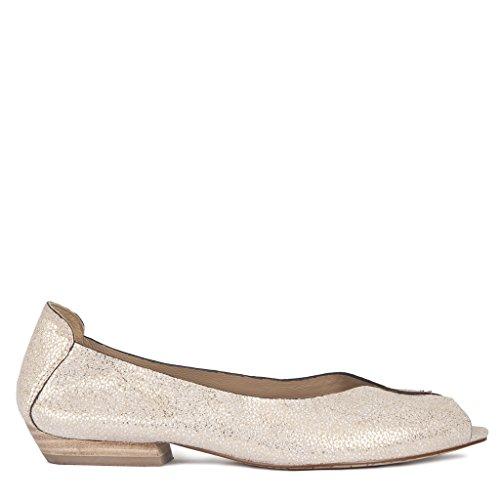 Tj Collection, Ballerine Donna Beige, Or