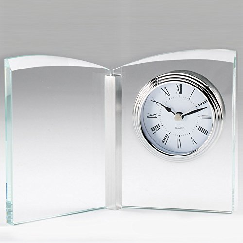 Awards and Gifts R Us Customizable Optical Crystal Butterfly Desk Clock, Includes Personalization