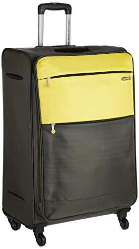 American Tourister Cheer-Lite Polyester 78 centimeters Olive and Yellow Soft Sided Suitcase...
