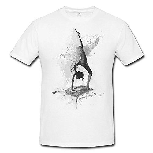 Yoga I T-Shirt Herren, weiß mit Aufdruck