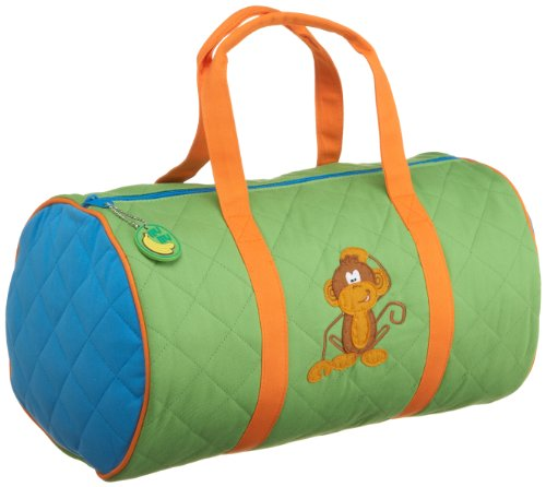 Stephen Joseph  Boys 2-7 Monkey Quilted Duffle,Lime Green/Orange,One Size, Bags Central