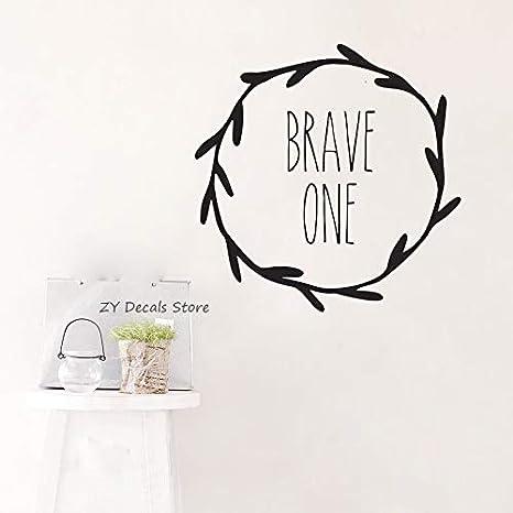 Personalizado Brave One Die Cut Tatuajes de pared Niñas Niños ...