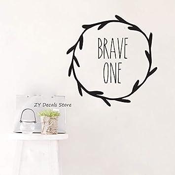 Brave One Die Cut Tatuajes de pared Niñas Niños Habitación ...