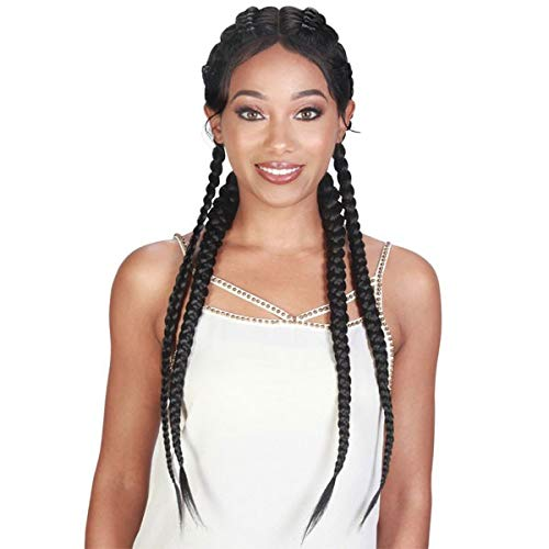 Zury Sis Double Dutch Box Braid Lace Front Wig 360-DD LACE H DUTCH BOX (1B) (Zury Sis Braid)