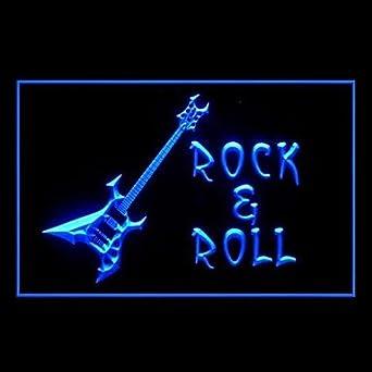 ES Luz rock roll Guitarra Publicidad LED Entrar Blue: Amazon.es: Iluminación