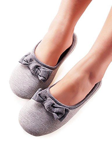 Chaussons Dintérieur Anti-dérapant Vero Monte Womens 1 Paire, (gris)