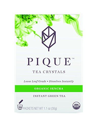 Green Instant Tea (Pique - Cold Brew Instant Tea - USDA Organic Sencha Japanese Green Tea Powder - Supercharged Antioxidants, Calm Energy, Sugar Free - 50 Count - Enjoy Hot or Iced - Vegan, Paleo, Gluten Free)