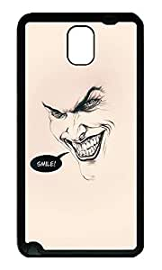 Note 3 Case, Galaxy Note 3 Case, [Perfect Fit] Soft TPU Crystal Clear [Scratch Resistant] Joker Batman Smile Flat Minimal Creativity Back Case Cover for Samsung Galaxy Note 3 N9000 Cases