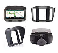 SunShade & Night Anti Reflection Visor For 6 Inch 6'' GPS Garmin Drive DriveSmart 60LM 60LMT 61LMT-S 61LM RV 660LMT Nuvi 68 67 2639LMT 2639 Fleet 670 660 TomTom Via 1625 Go 62 Trucker 620 Sun Shade