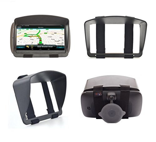 SunShade & Night Anti Reflection Visor For 6 Inch 6'' GPS Garmin Drive DriveSmart 60LM 60LMT Drive 61 61LM RV 660LMT Nuvi 68 67 2639LMT 2639 Fleet 670 660 TomTom Via 1625 Go 62 Trucker 620 Sun Shade -