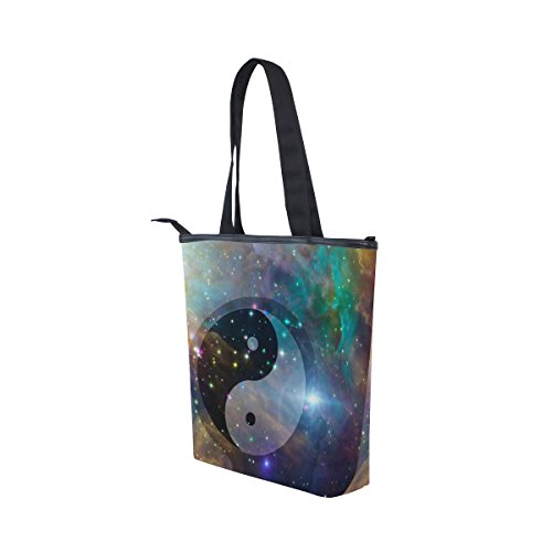 Canvas Shoulder Yin Tote Womens Galaxy Celestial Handbag Bag Yang MyDaily 5ngfq44
