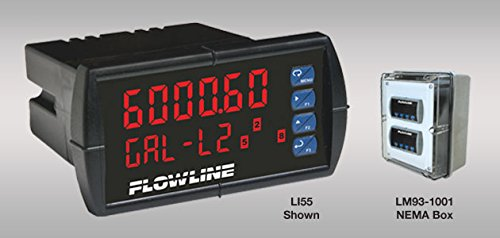 Flowline LI55-1201 DataView Level Controller, Meter with 2 Relays, No Repeater, 85-265 VAC