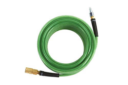Hitachi 115155 Professional Grade Polyurethane Air Hose with 1/4' Industrial Fittings, 1/4' x 50', Green